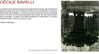 Galerie du Tableau, Marseille du 27 janvier au 08 février 2014