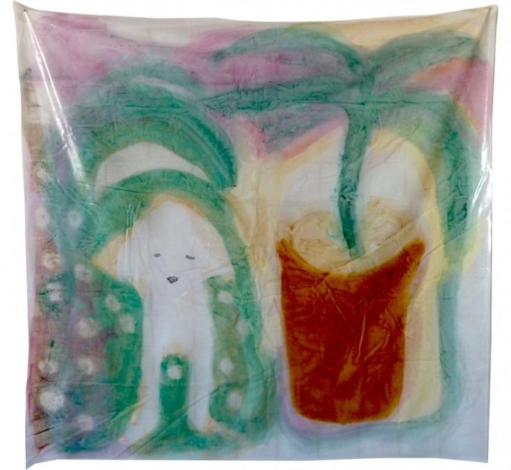 Acrylique sur nappe, 140 x 150 cm, 2013