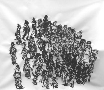 Encre de chine sur papier, 40 x 35 cm