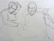 carnet de dessin , crayon , 12 X 12 cm