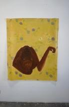 Cécile Savelli, Acrylique sur toile cirée, 117 x 140cm