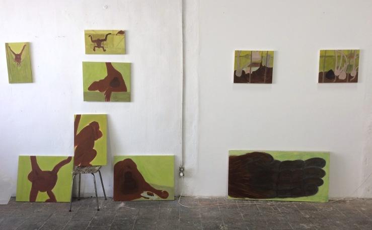 Cécile Savelli, Vue d'atelier, 2018