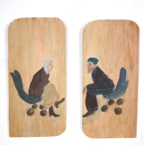 Cécile Savelli, Acrylique sur bois, 2007, 9 pièces, 19 X 39 cm